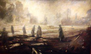 Vebjørn Sand sin gjengivelse av scener som utspant seg etter bombingen
