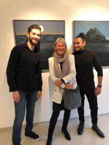 Eva Harr sammen med Mouhamed Majzoub og Manar ALhashemi som stod for det musikalske innslaget